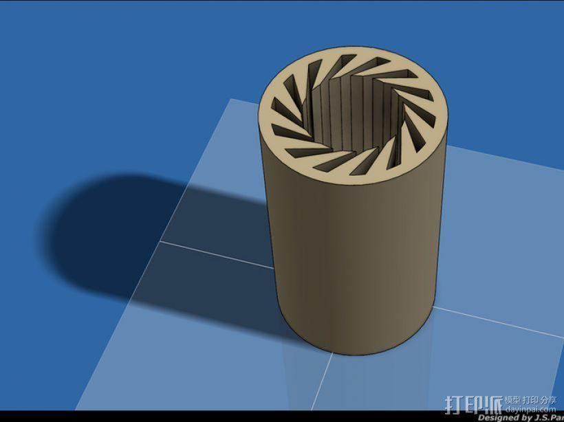 LM8UU轴承 3D打印模型渲染图