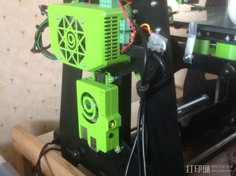 树莓派打印服务器安装座 外盒 3D打印模型渲染图