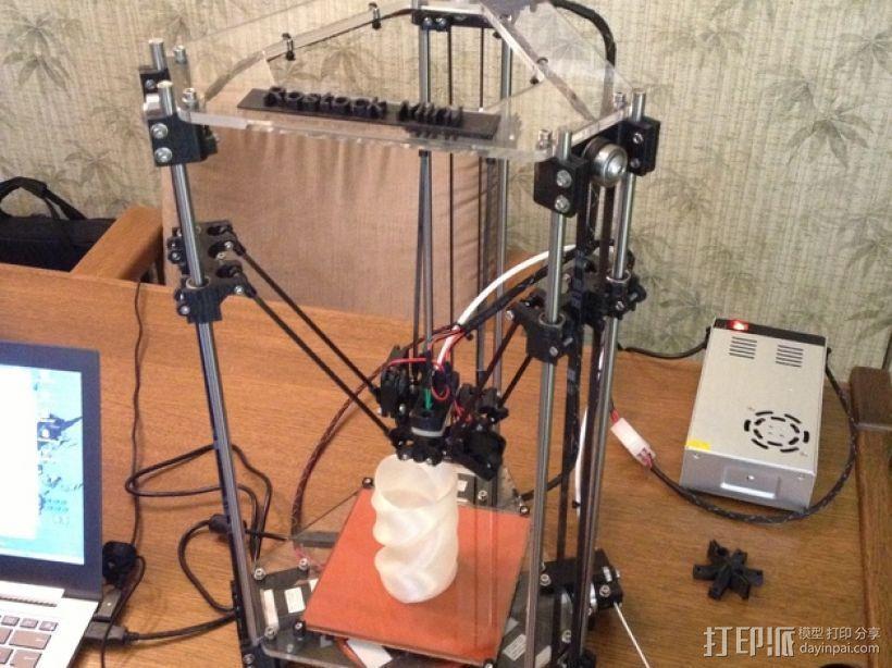 迷你Rostock打印机 3D打印模型渲染图