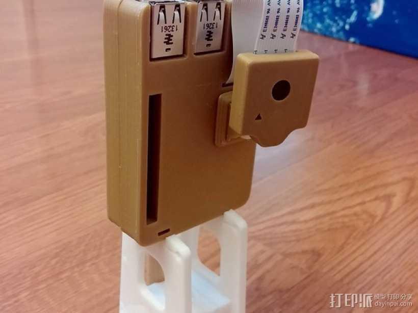 Octopi WiFi相机保护外盒 3D打印模型渲染图