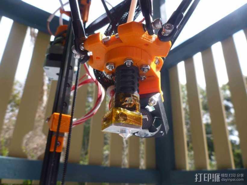 打印机风扇架 3D打印模型渲染图