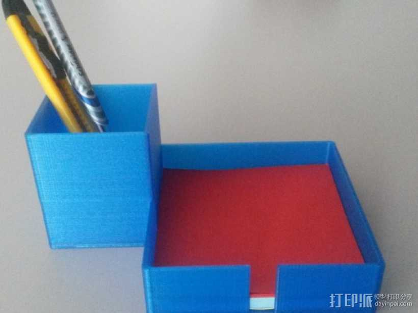 写字台办公文具盒  3D打印模型渲染图