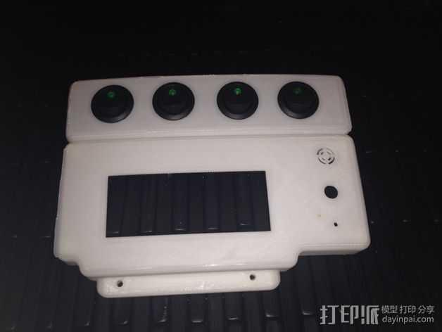 智能控制器显示屏保护壳 3D打印模型渲染图