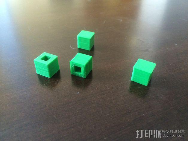 刻度块  3D打印模型渲染图