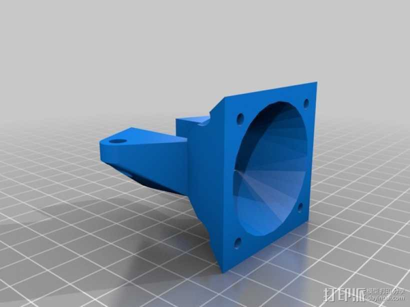 Prusa i3挤出机通风导管 3D打印模型渲染图