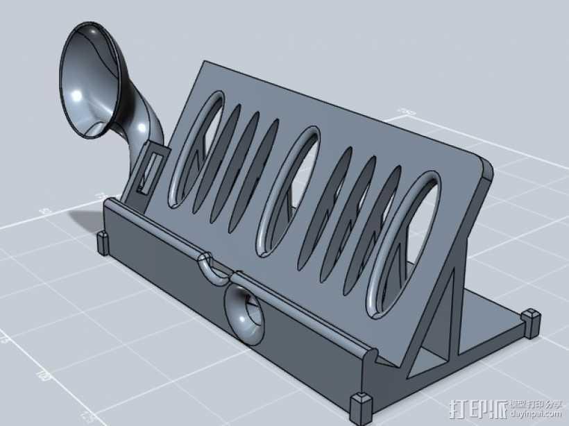 IPhone 站架扬声器 3D打印模型渲染图