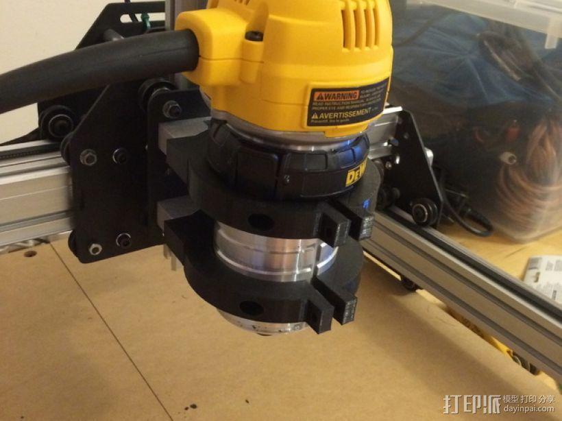 Dewalt DW 611雕刻机支撑架 3D打印模型渲染图