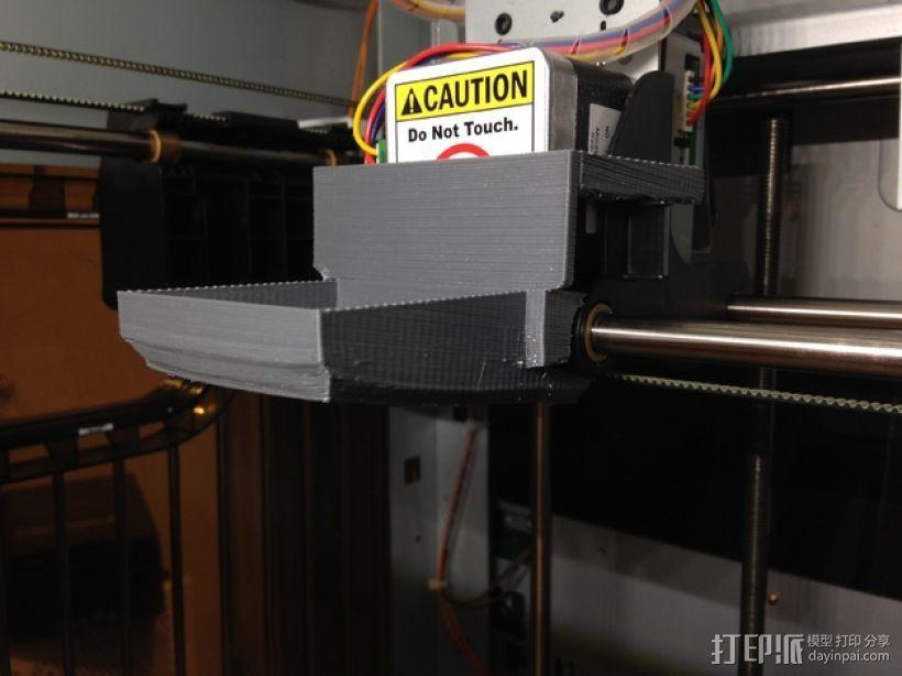 XYZprinting Davinci打印机风扇导管 3D打印模型渲染图