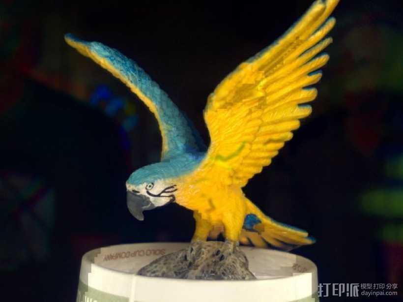 彩雀 3D打印模型渲染图
