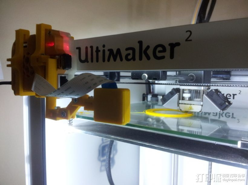 树莓派相机框架和底座 3D打印模型渲染图
