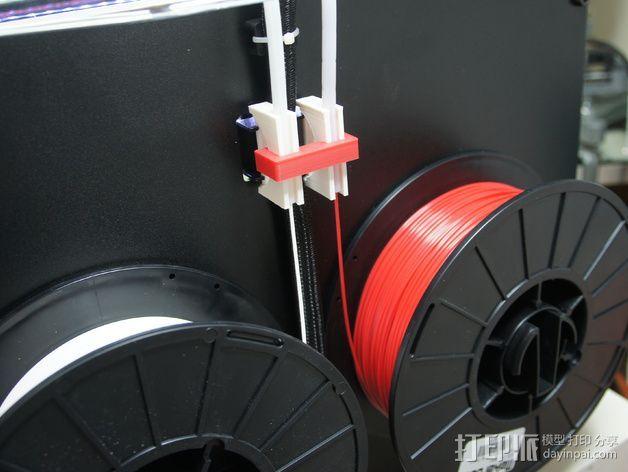 Makerbot Replicator 2(X)打印机线材导线器 3D打印模型渲染图