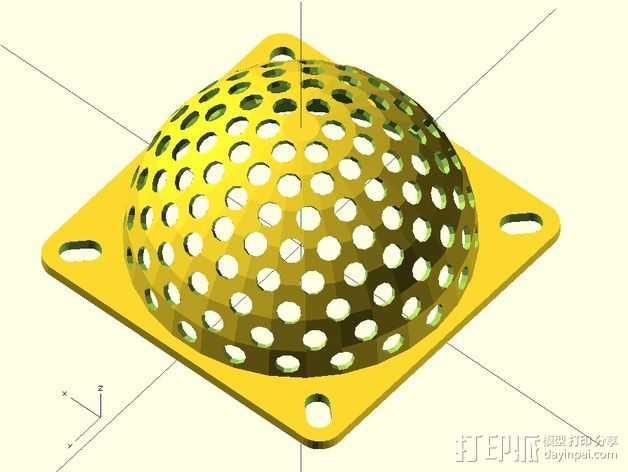 半圆形格栅式风扇罩 3D打印模型渲染图
