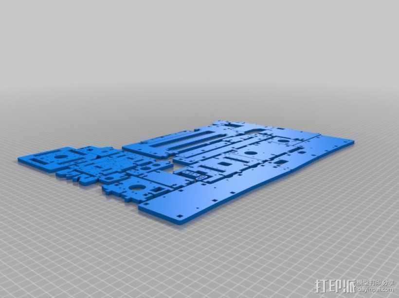 Printrbot打印机部件 3D打印模型渲染图