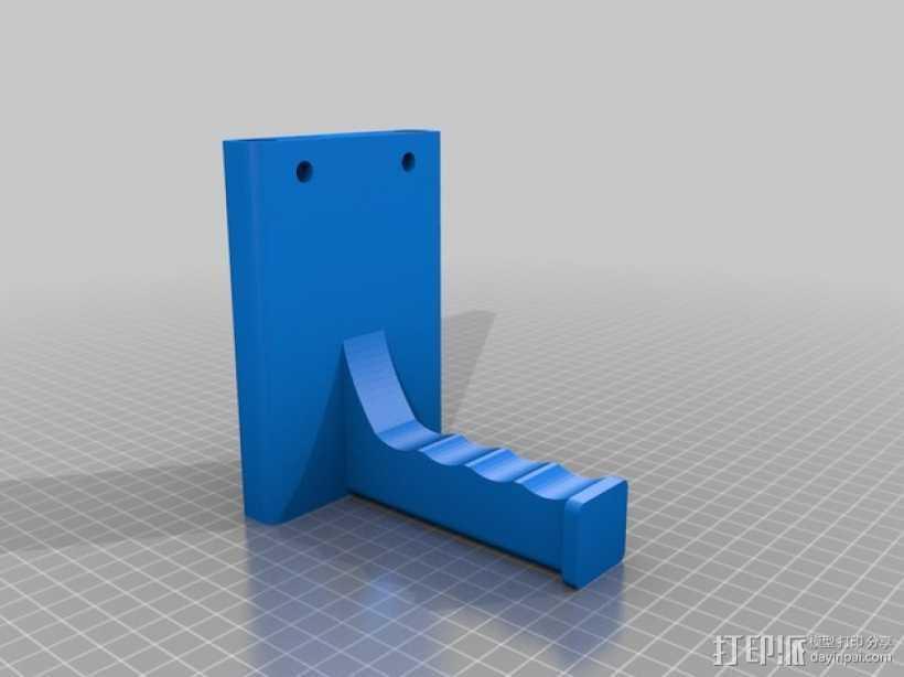打印机器人简易金属杆支撑器 3D打印模型渲染图
