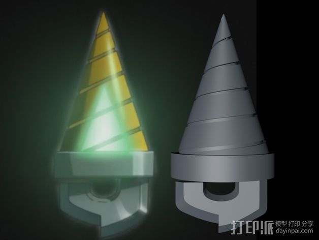 Simon的圆锥形钥匙 3D打印模型渲染图