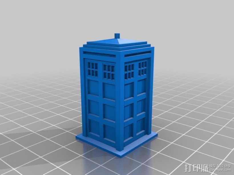 塔迪斯警察亭模型 3D打印模型渲染图