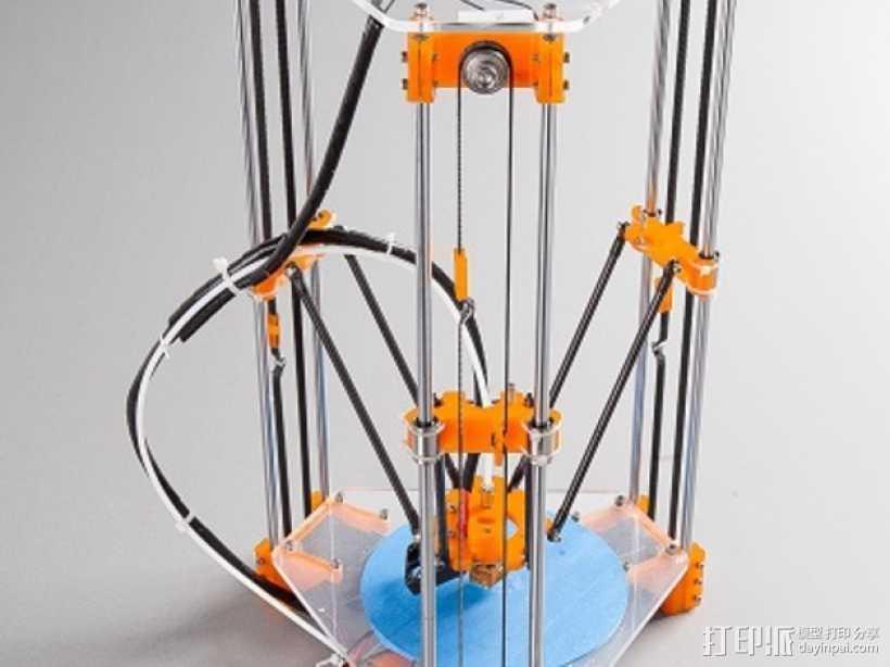 Rostock Mini Pro打印机框架 3D打印模型渲染图