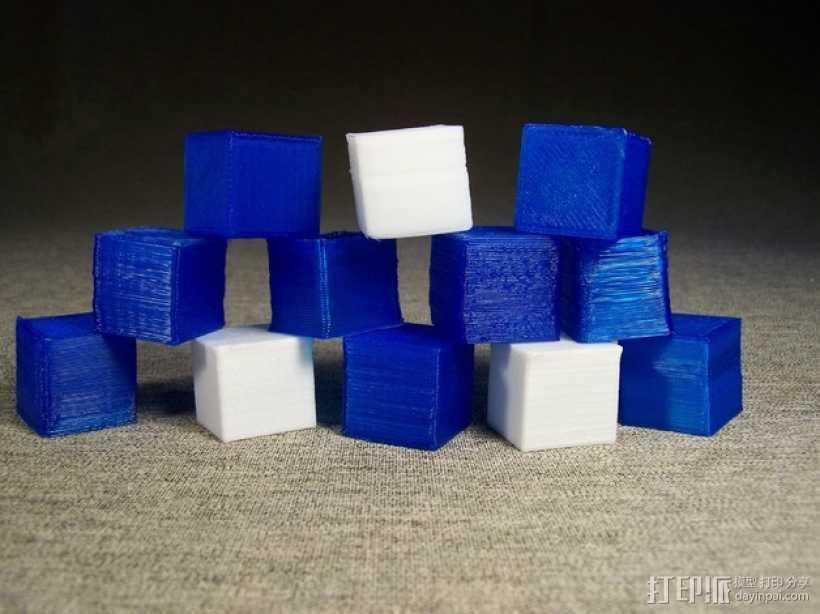 中空刻度块 3D打印模型渲染图