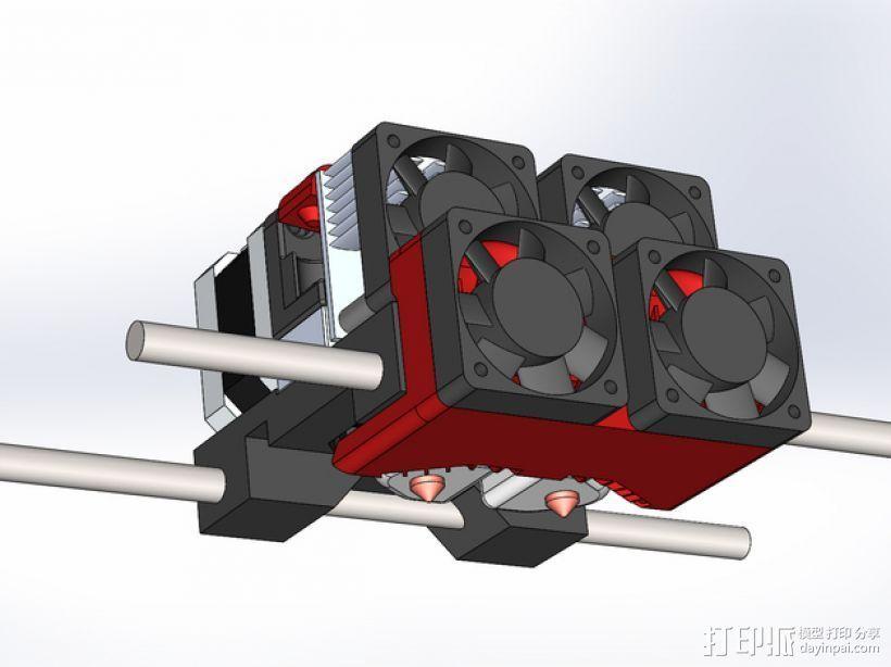 Makerbot Replicator 2x 打印机风扇 3D打印模型渲染图