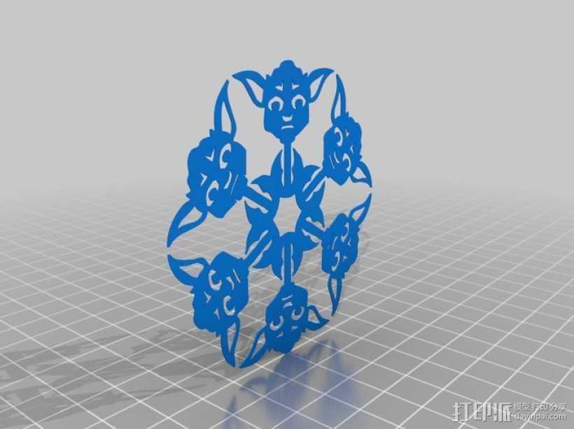 星球大战装饰物 3D打印模型渲染图