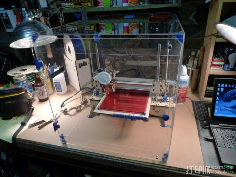 3D打印机外机箱 3D打印模型渲染图