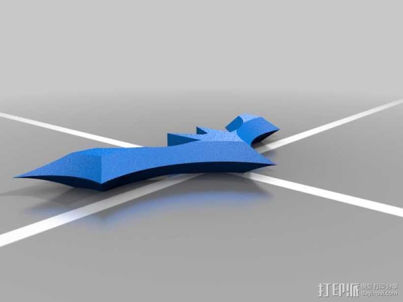 蝙蝠侠飞镖 3D打印模型渲染图