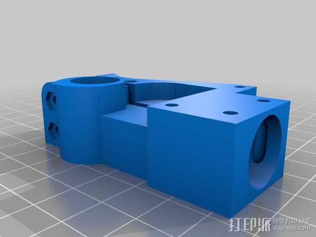 Mini Fala挤出机 3D打印模型渲染图