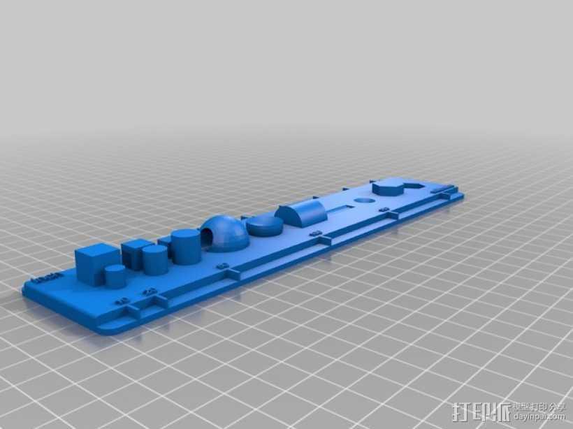 CAD刻度尺模型 3D打印模型渲染图