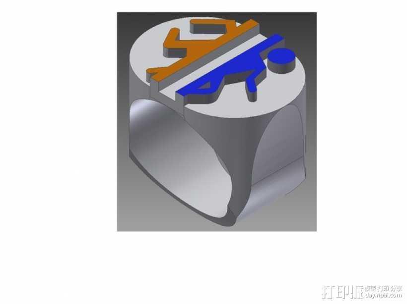 传送门 戒指 3D打印模型渲染图