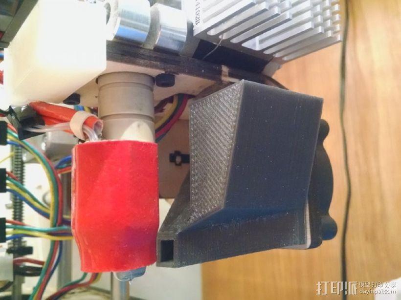 挤出机风扇罩 3D打印模型渲染图
