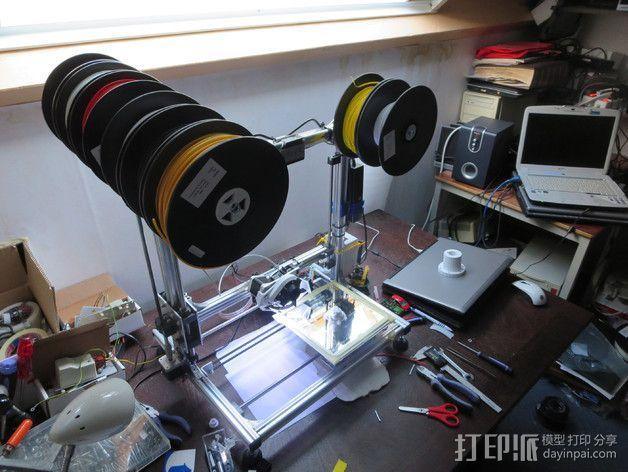线轴架支撑器 3D打印模型渲染图