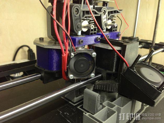 挤出机喷嘴座 3D打印模型渲染图