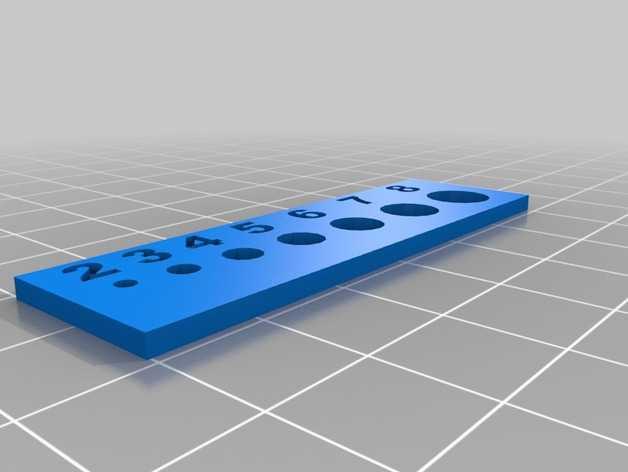 孔径尺寸模板 3D打印模型渲染图