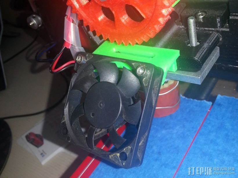 Prusa I3风扇底座 3D打印模型渲染图