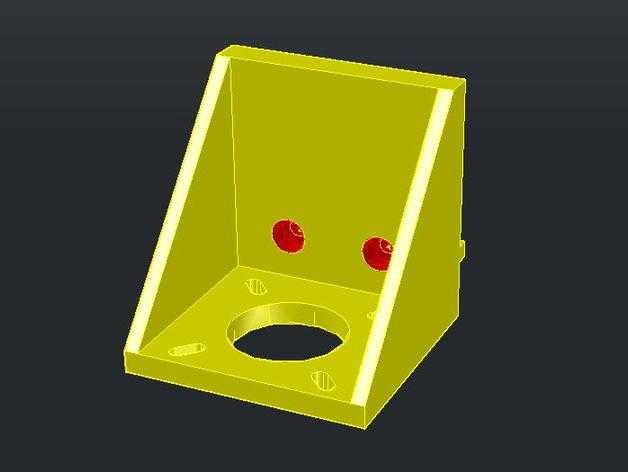 2020 NEMA17卧式支座 3D打印模型渲染图