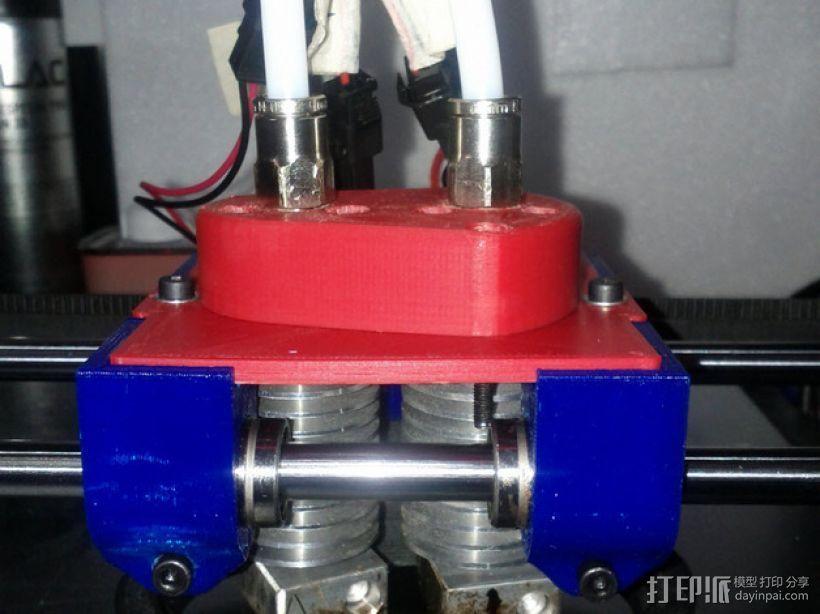 Bowden 双挤出机 3D打印模型渲染图