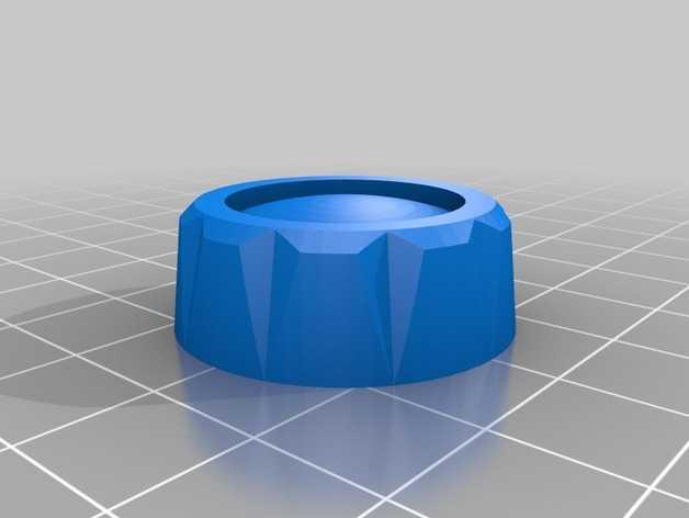 LCD显示屏控制钮 3D打印模型渲染图