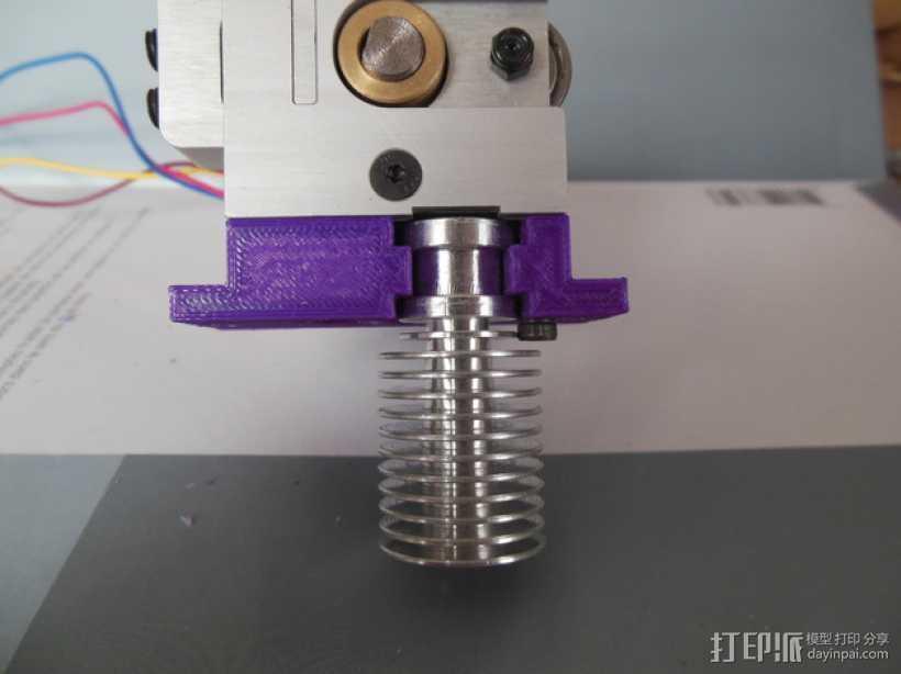 E3D V6 挤出机安装座 3D打印模型渲染图