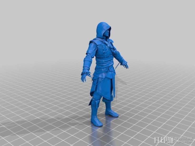 刺客信条黑旗:爱德华·肯维 3D打印模型渲染图