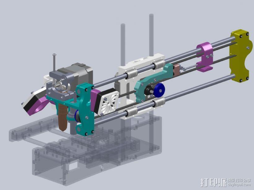 No Sag打印机 3D打印模型渲染图