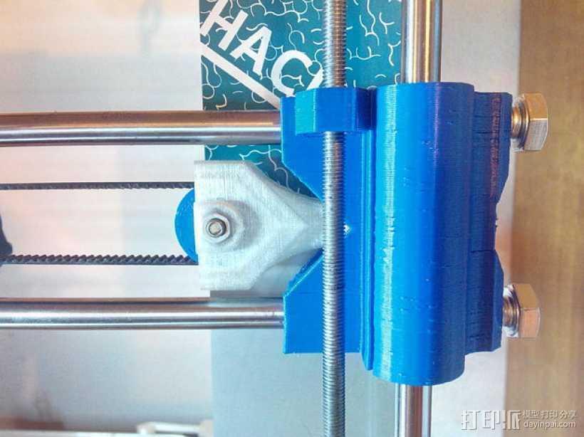 Prusa i3打印机X轴皮带张紧器 3D打印模型渲染图