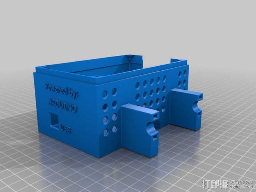 Ramps 1.4硬盘/电路板保护盒 3D打印模型渲染图