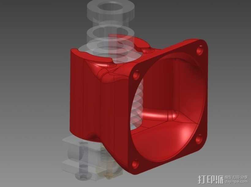 挤出机风扇导管 3D打印模型渲染图