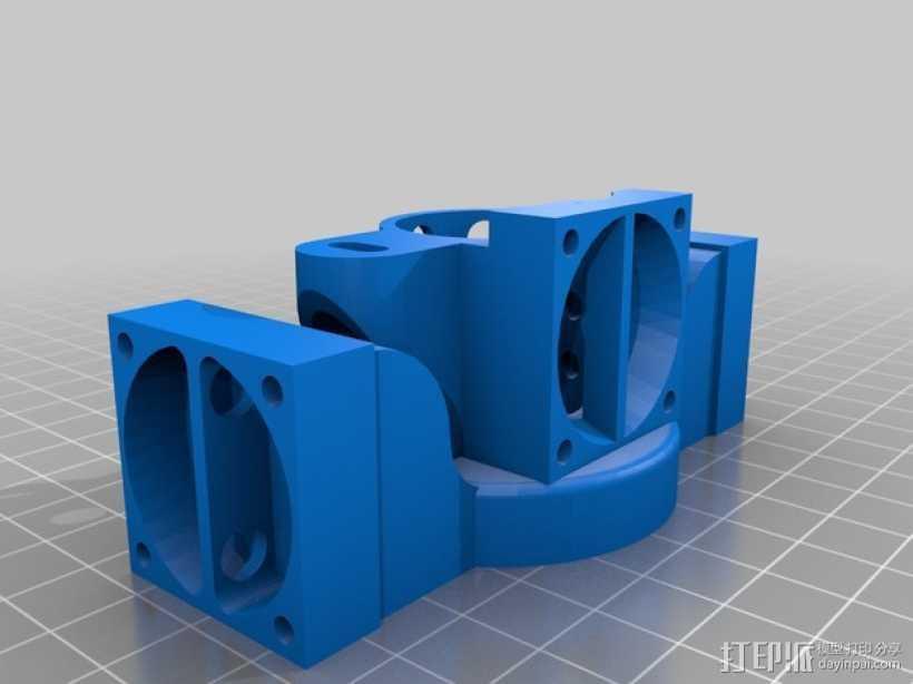 Prusa i3挤出机 3D打印模型渲染图