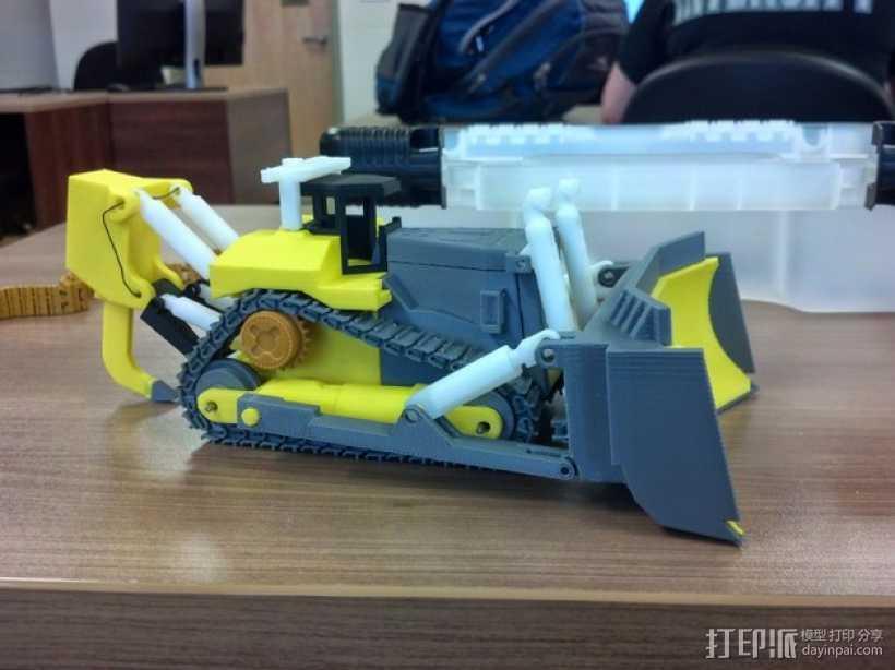 推土机 3D打印模型渲染图