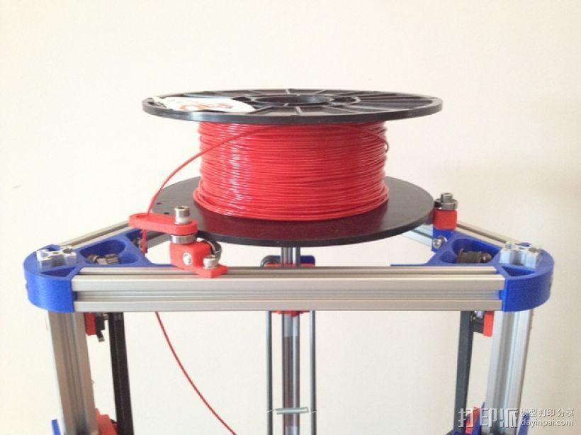 Mini Kossel打印机线轴架 3D打印模型渲染图