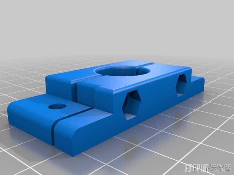 喷头固定凹槽 3D打印模型渲染图