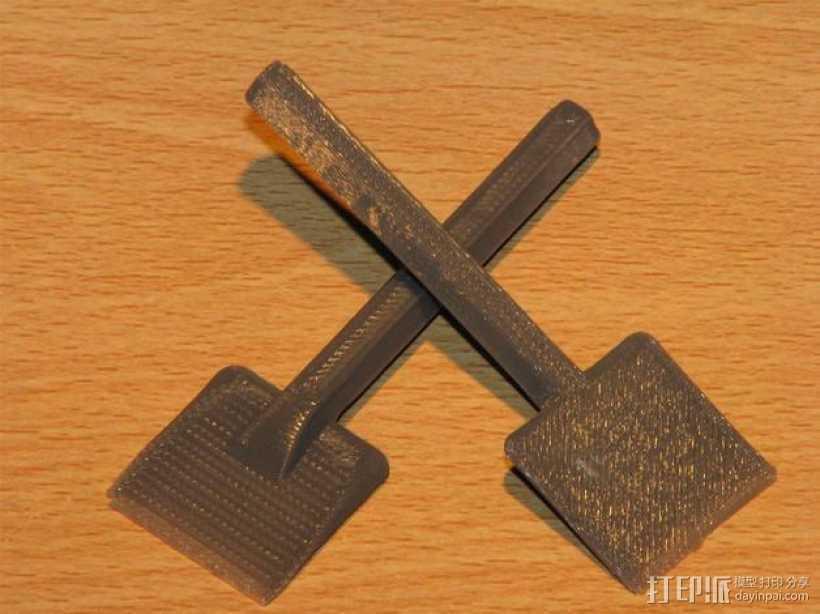 小铲子 3D打印模型渲染图