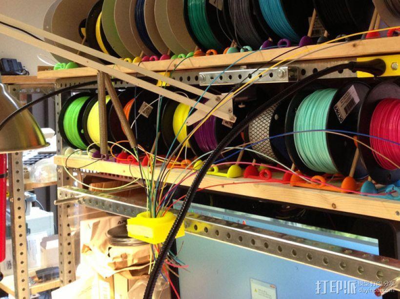 线材架 线材收纳器 3D打印模型渲染图
