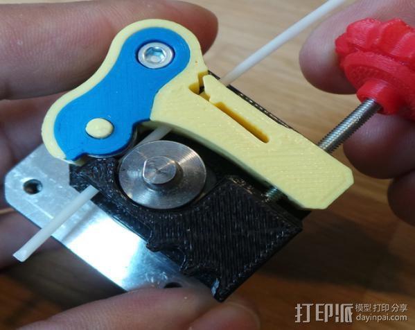 Replicator 2/1打印机的驱动块 3D打印模型渲染图